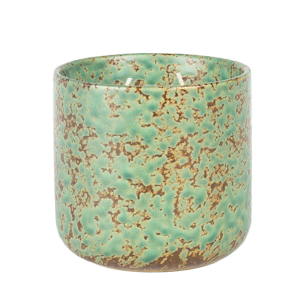Doftljus wasabi/watercress grön keramik