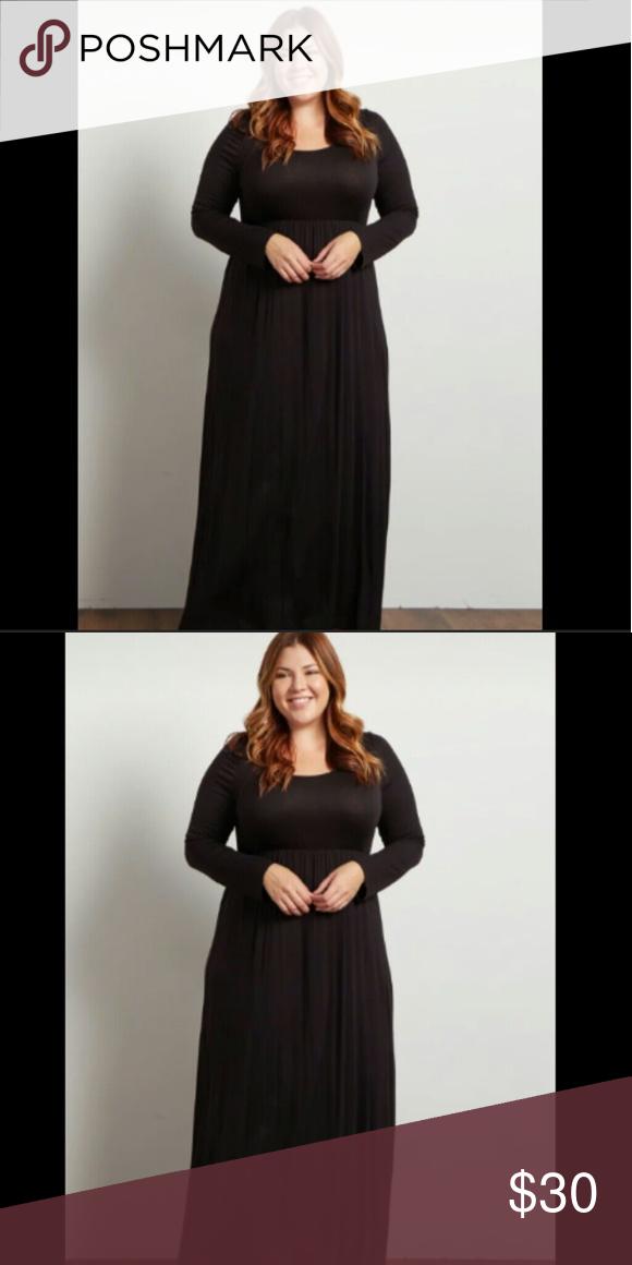 Plus Size Black Maxi Dress 3x 4x Black Maxi Maxi Dresses And