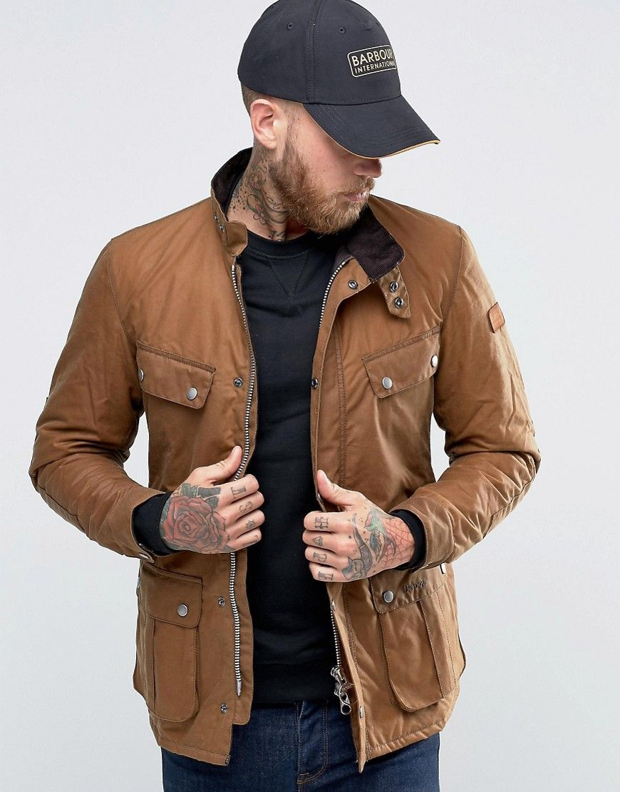 Image 1 of Barbour Duke Waxed Jacket In Tan 59db17a19a7d