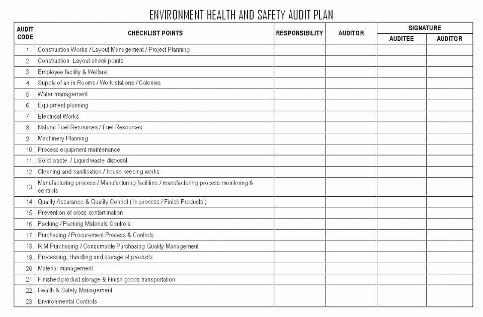 Internal Audit Forms Template Luxury Internal Audit Report Sample In 2020 Environment Health And Safety Safety Audit Health And Safety
