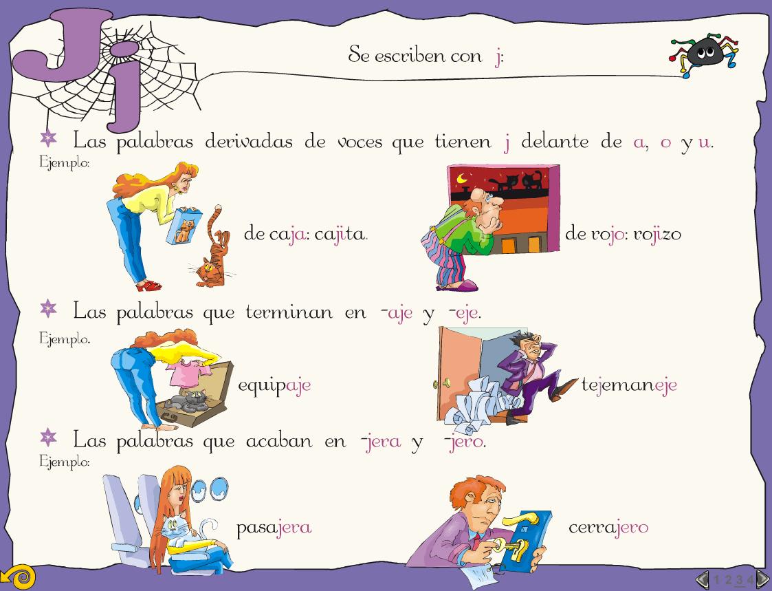 Laminas Ortográficas Uso G J Y Actividades Ortografía Lectura Y Escritura Actividades