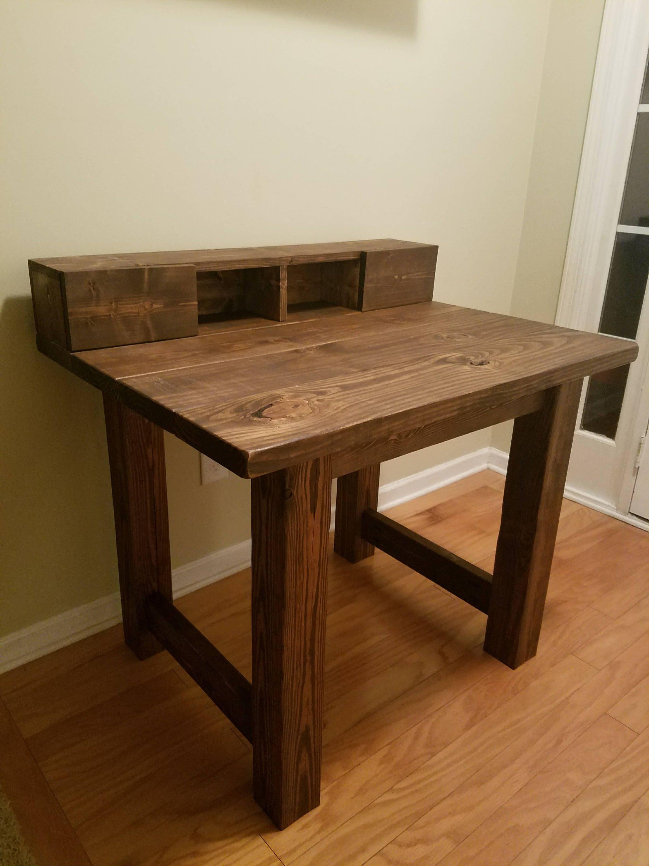 Rustic Farmhouse Desk w/ Optional Organizer Drawers by
