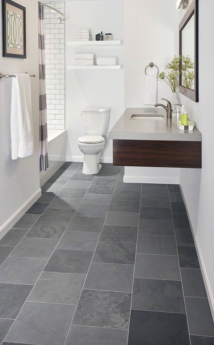Concerto Quartz Gray Tile Bathroom Floor Slate Bathroom Floor Grey Bathroom Tiles