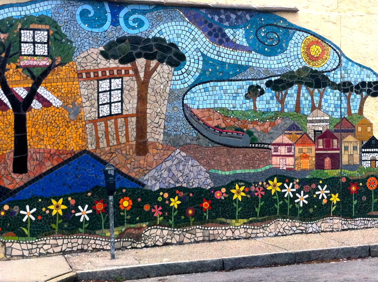 mosaic wall art mural art mosaic art