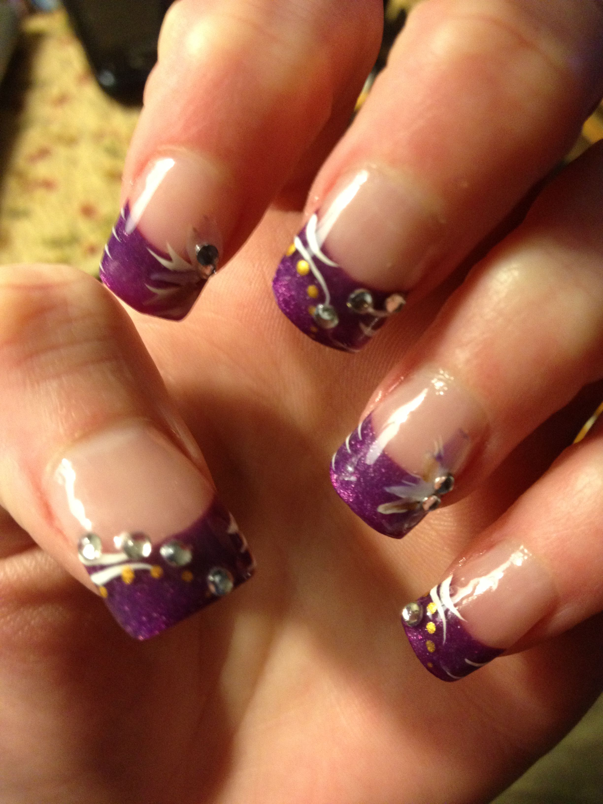 Purple French nail design | Nails | Pinterest | French nails, Hair ...