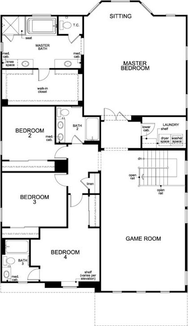 Love The Large Game Room Upstairs In This Floor Plan House Floor Plans Kb Homes Floor Plans