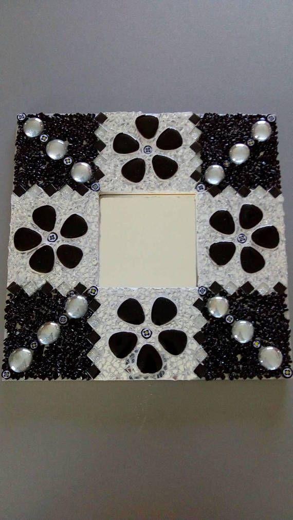 Mosaic mirror frame Frame 26 cm x 26 cm 10 cm x 10 cm mirror Made ...