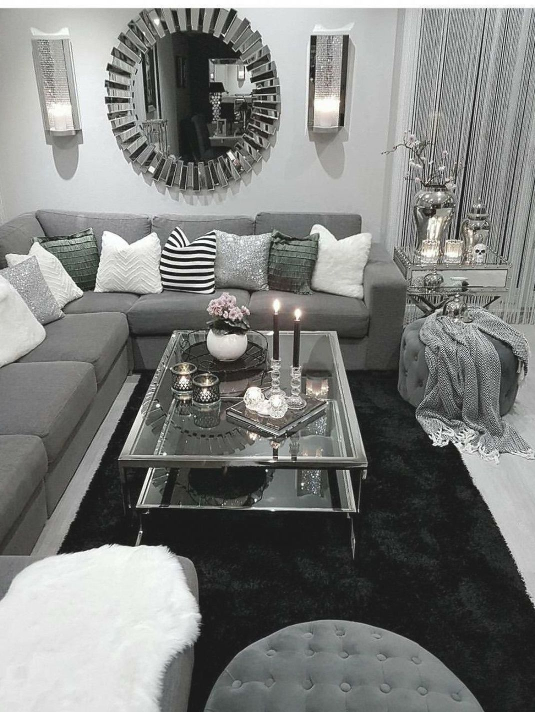 Pin By Nathalie Collado On Casa In 2020 Living Room Grey Black Furniture Living Room Comfy Living Room #silver #furniture #living #room
