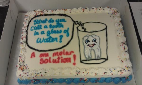 Corny Chemistry Joke On A Cake D Punny Jokes Corny Jokes Chemistry Jokes
