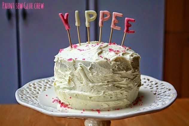 Crea un cake topper con las letras que quieras - srta limón