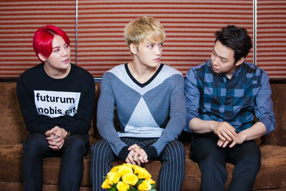 140829 JYJ at Press Conference for 2014 JYJ Concert in Vietnam
