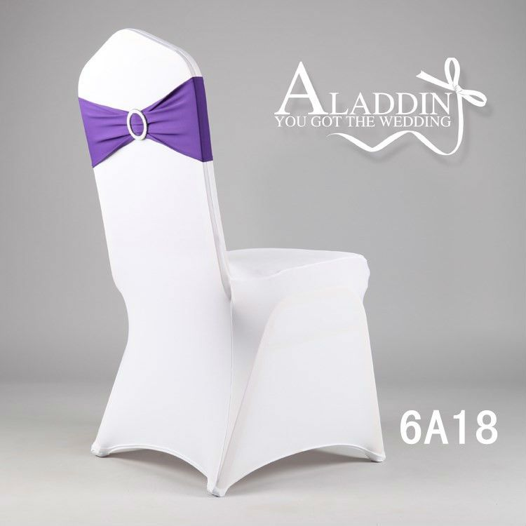 Spandex Lycra Chair Bands Sash With Buckle For Wedding Elastic
