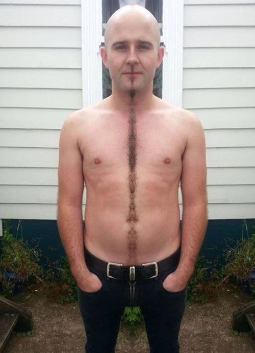 Happy Trails Divider How To Trim Your Beard Mustache Chest Hair In