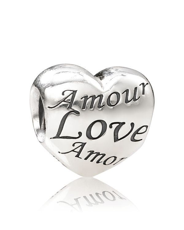 Pandora Charm - Sterling Silver Language of Love, Moments Collection