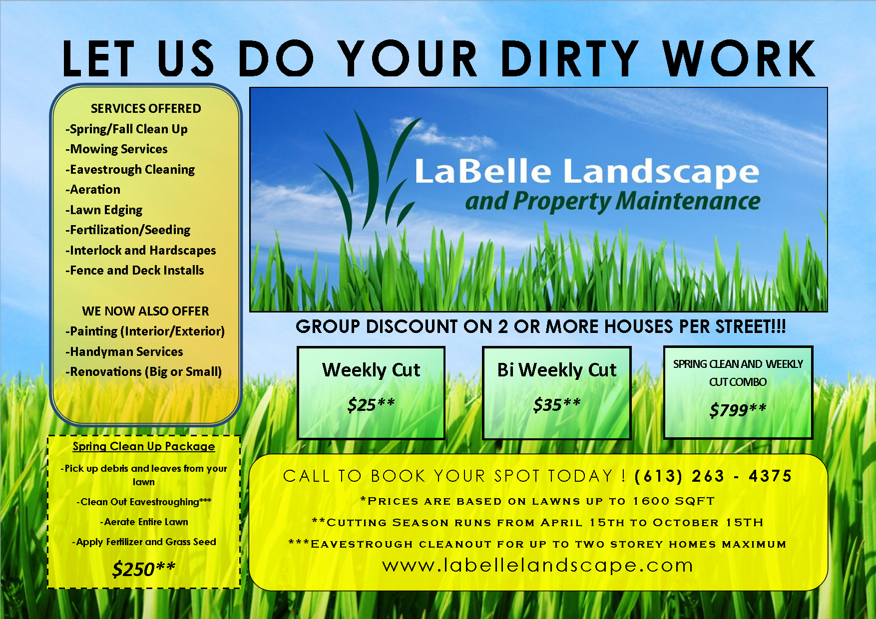 lawn care flyer free template