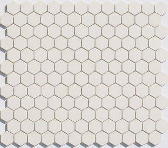 Lyric Unglazed Porcelain Hexagon Mosaic Tile In Chalk