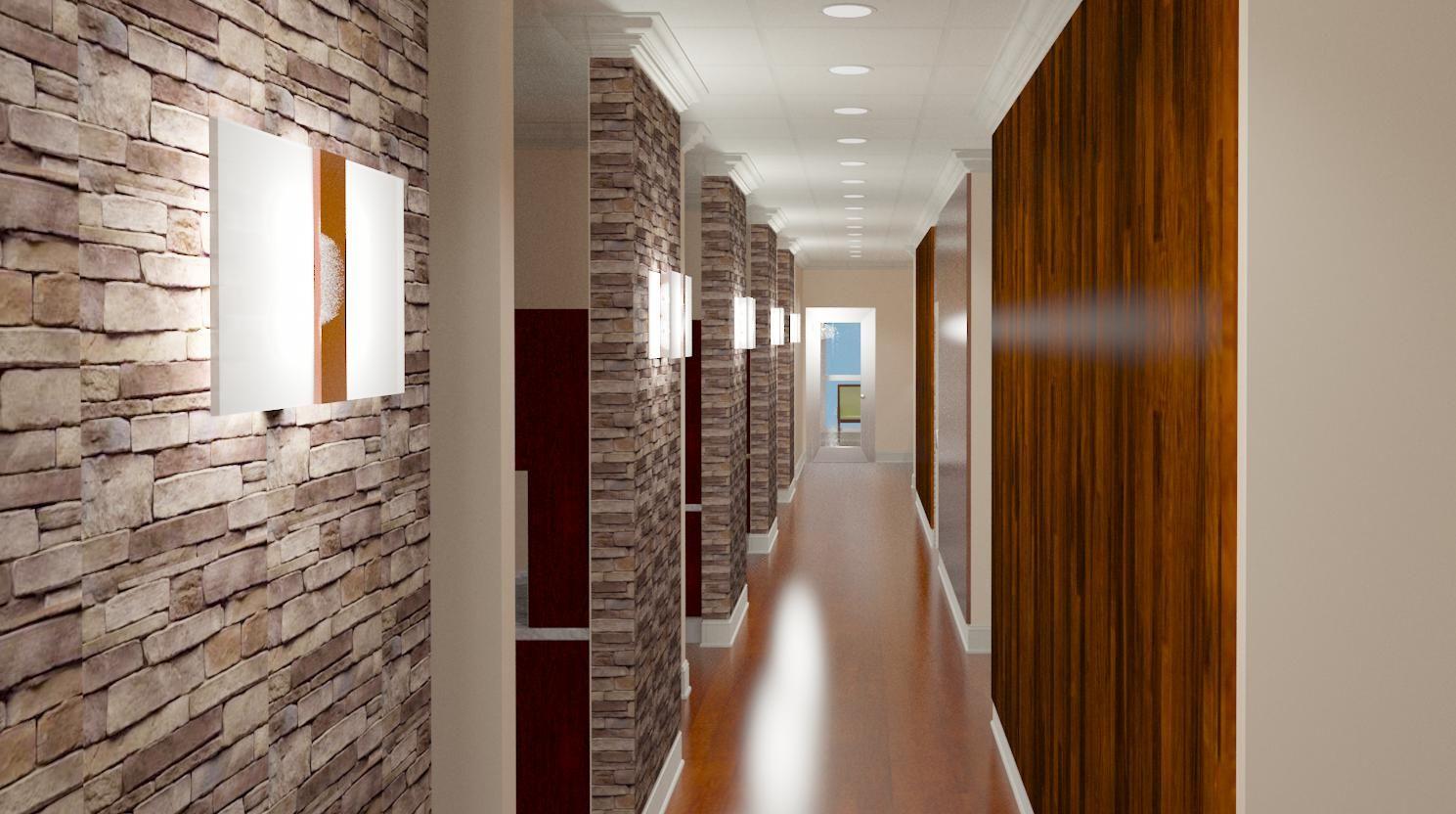 Treatment Hallway Dental office design, Dental office