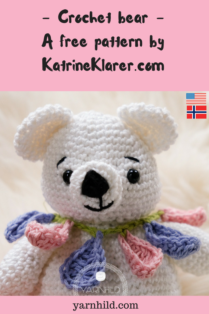 The cutest crochet Bear pattern by Katrine Klarer #crochetbearpatterns