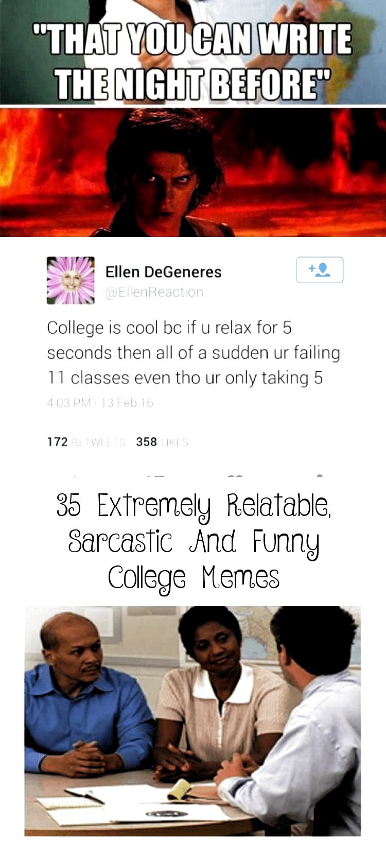 35 Extremely Relatable, Sarcastic And Funny College Memes