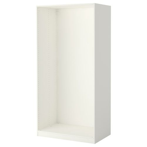 PAX Wardrobe frame white 19 5/8x13 3/4x79 1/8