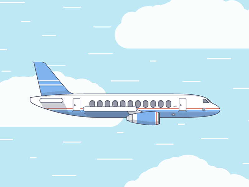 Plane Airplane Illustration Plane Drawing Flat Design Illustration