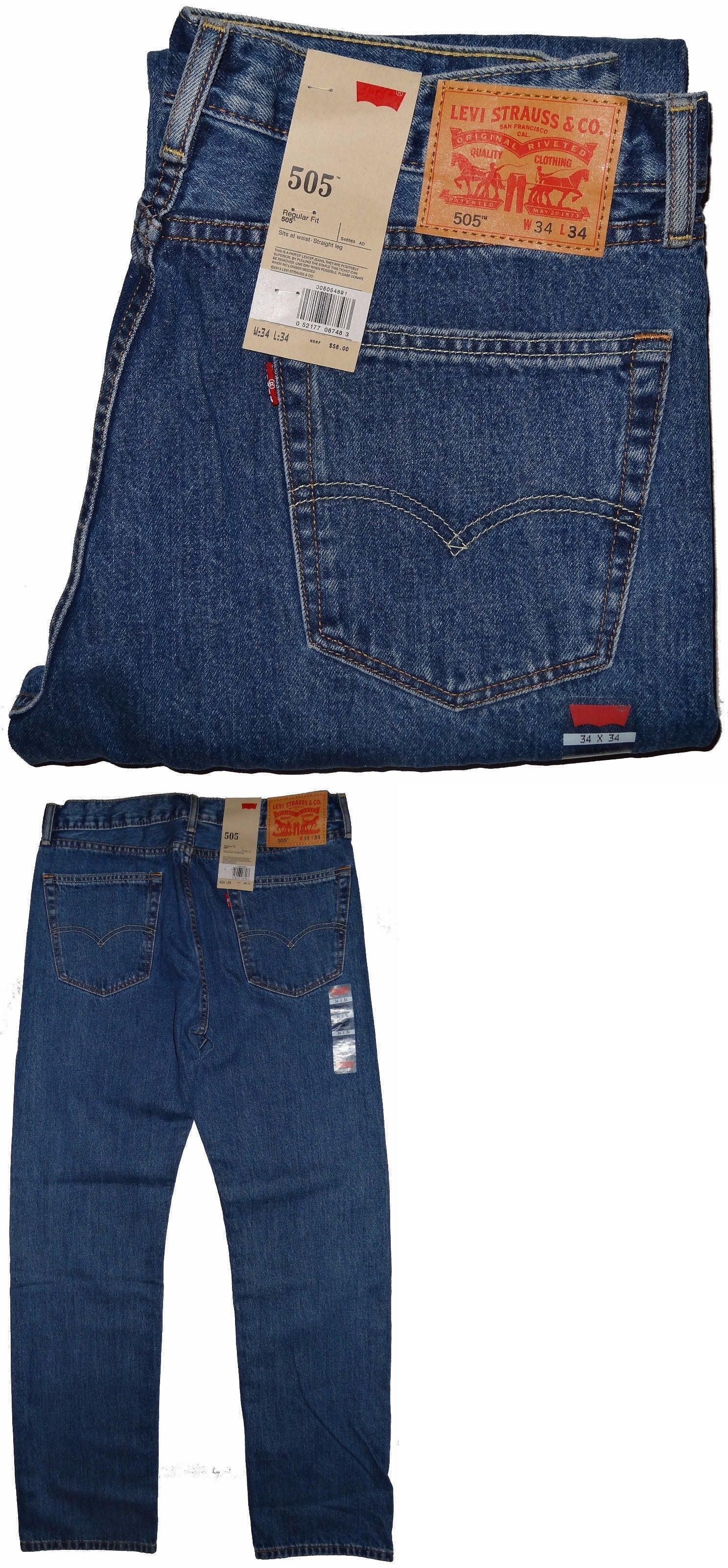 a1e94ccf262 Jeans 11483: Levis 505 Regular Fit Jeans Medium Blue Stonewash #4891 **^^  Many Sizes ^^** -> BUY IT NOW ONLY: $33.11 on #eBay #jeans #levis #regular  #medium ...