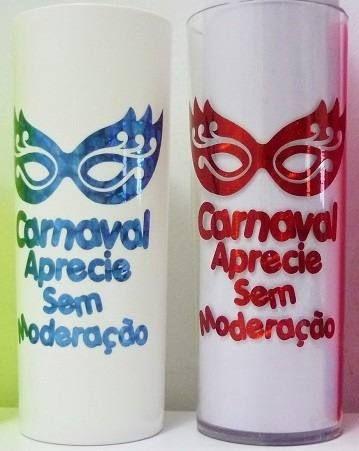 Carnaval 100 Copos Long Drink Personalizado Colorido Copos