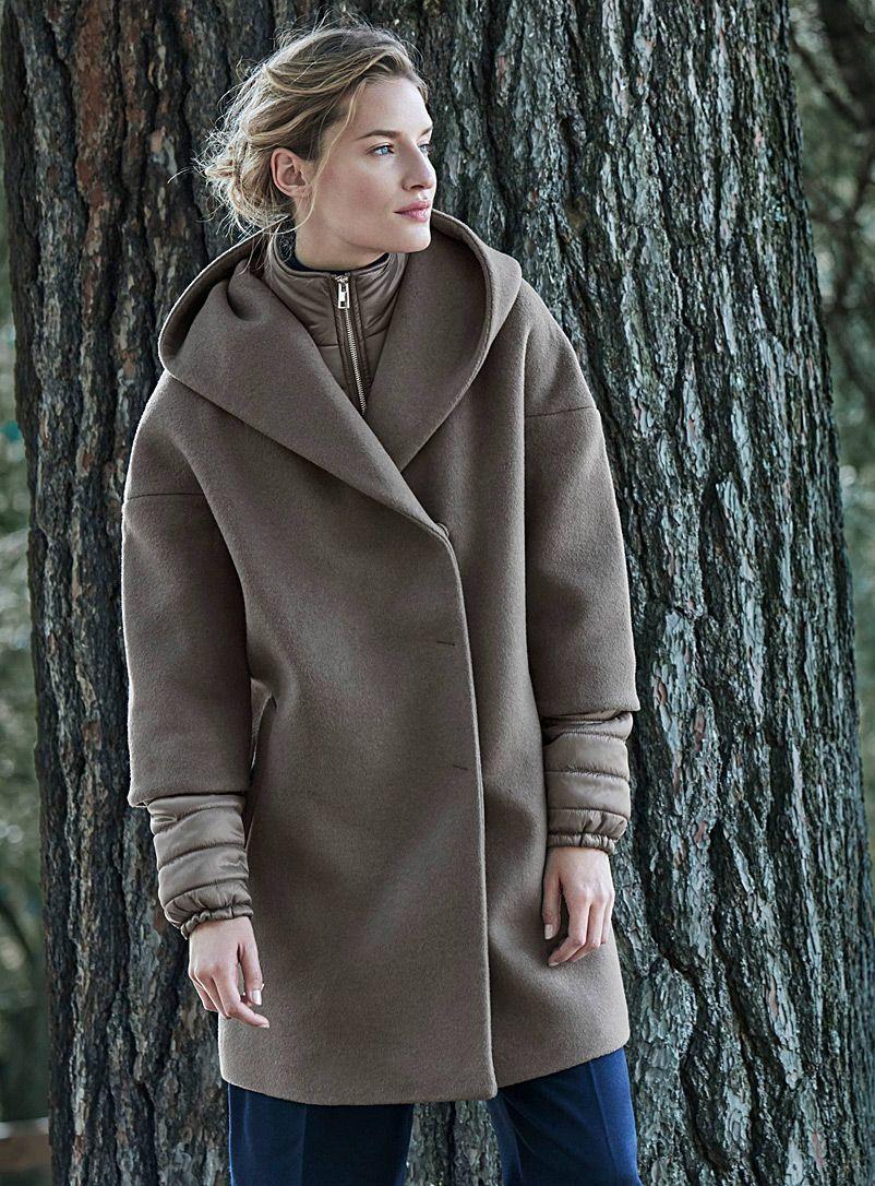Manteau laine femme simons