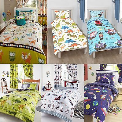Character Junior Bed Toddler Cot Duvet Cover Pillowcase Sets