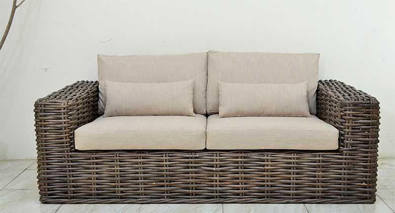 Sofa rattan grueso aladane for Muebles de terraza rattan