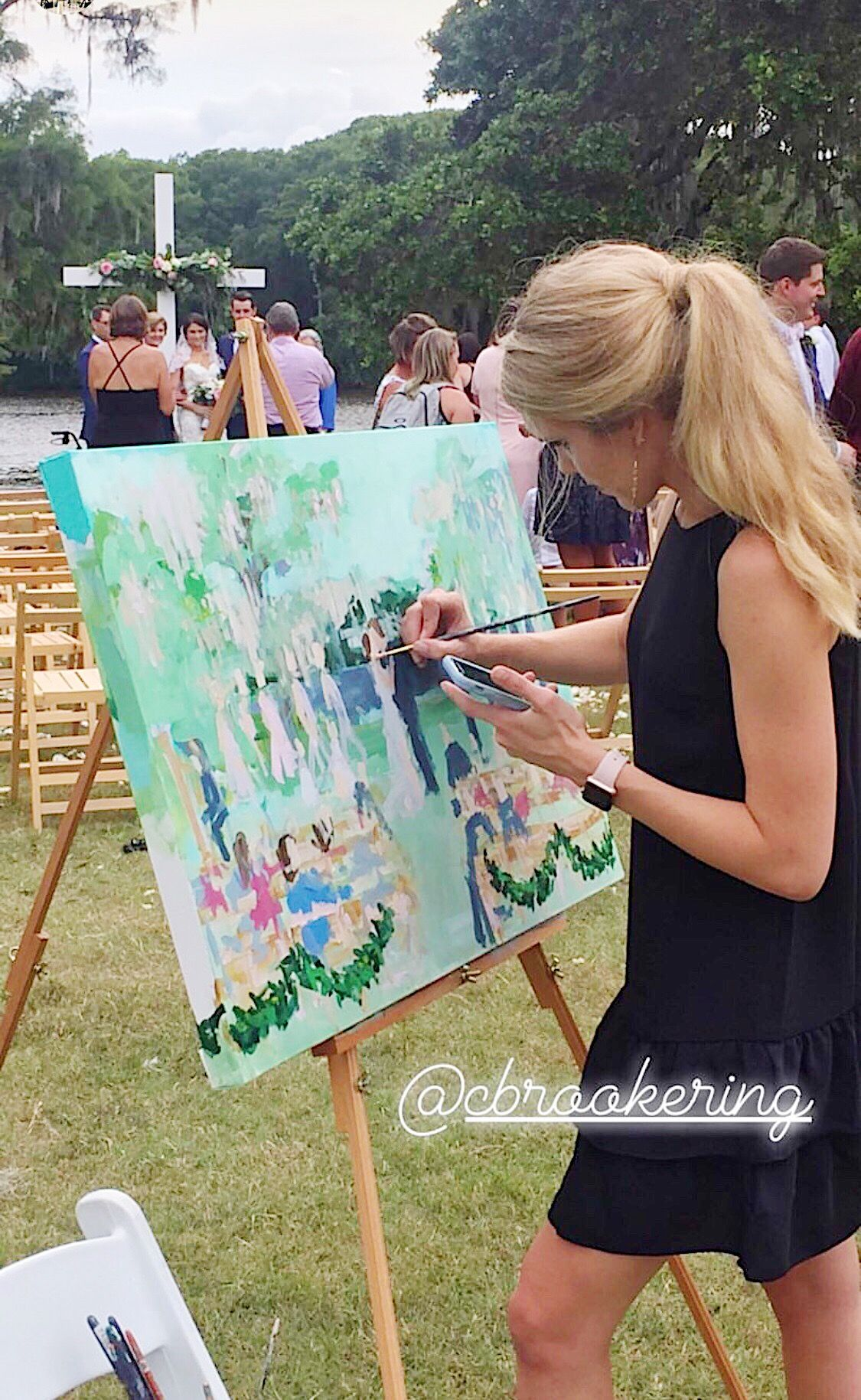 Live wedding painting #ceremonyideas