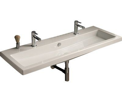 Pinto Ceramic Rectangular Vessel Bathroom Sink with Overflow in 2018