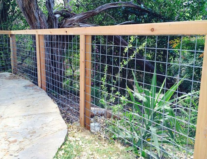 Pin By James Matthews On Fencing Ideas Wire Fence Backyard Fences Garden Fencing