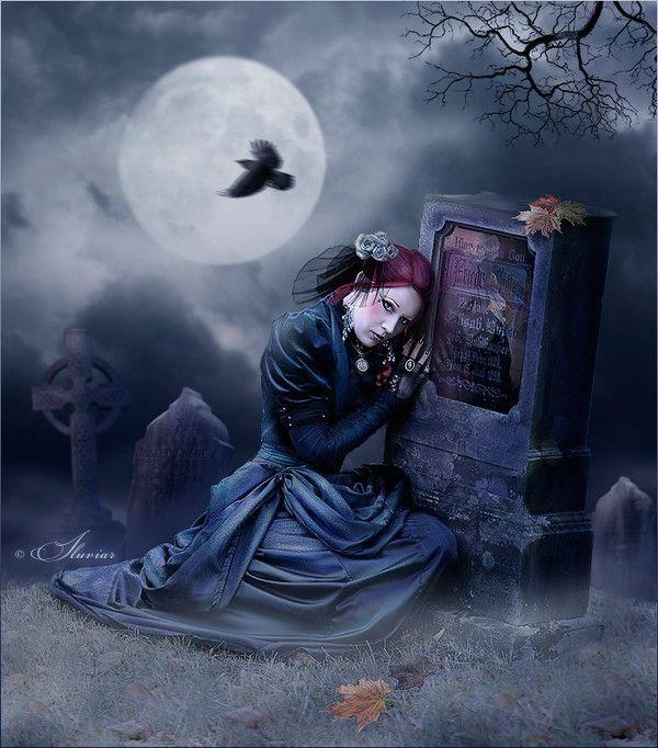 E499b6e4 Photo De Gothique Romantique La Vie D Une Etoile Qui Reve De La Lune Les Arts Art Gothique Art Gothique Sombre