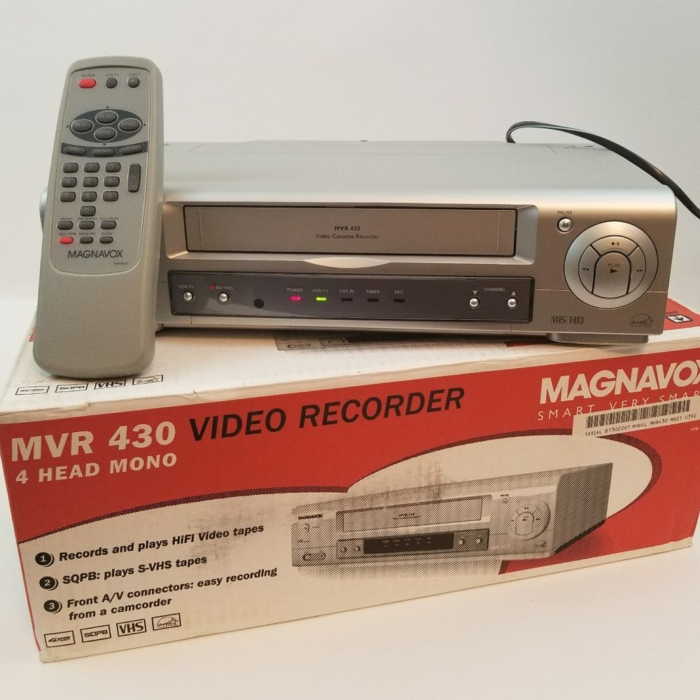 Magnavox MVR430 VCR VHS Player Recorder Tested And Works With Remote
