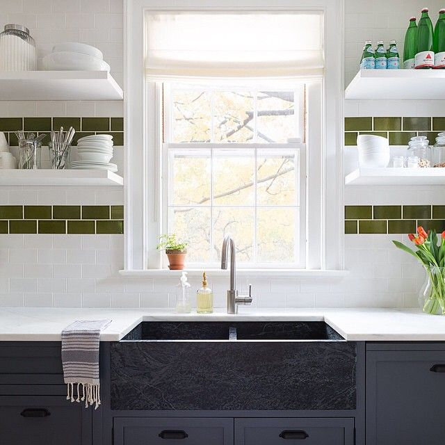 Currently featured in Lonny Magazine, this beautiful kitchen designed from scratch by @susana.chango stuns with character + custom finishes + our Vernon bin pulls. #interiors #lonnymag #hardware #kitchensink #RejuveSpotted