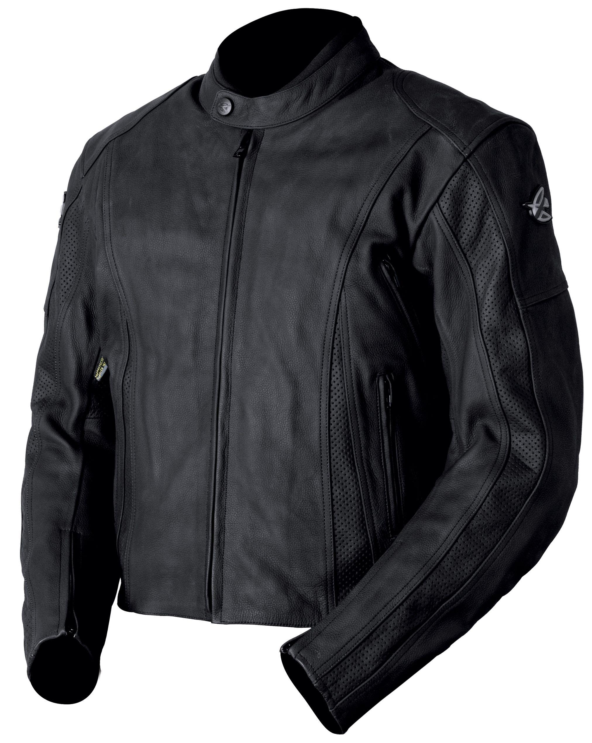 AGVSPORT Canyon Perforated (Black) Leather Jacket