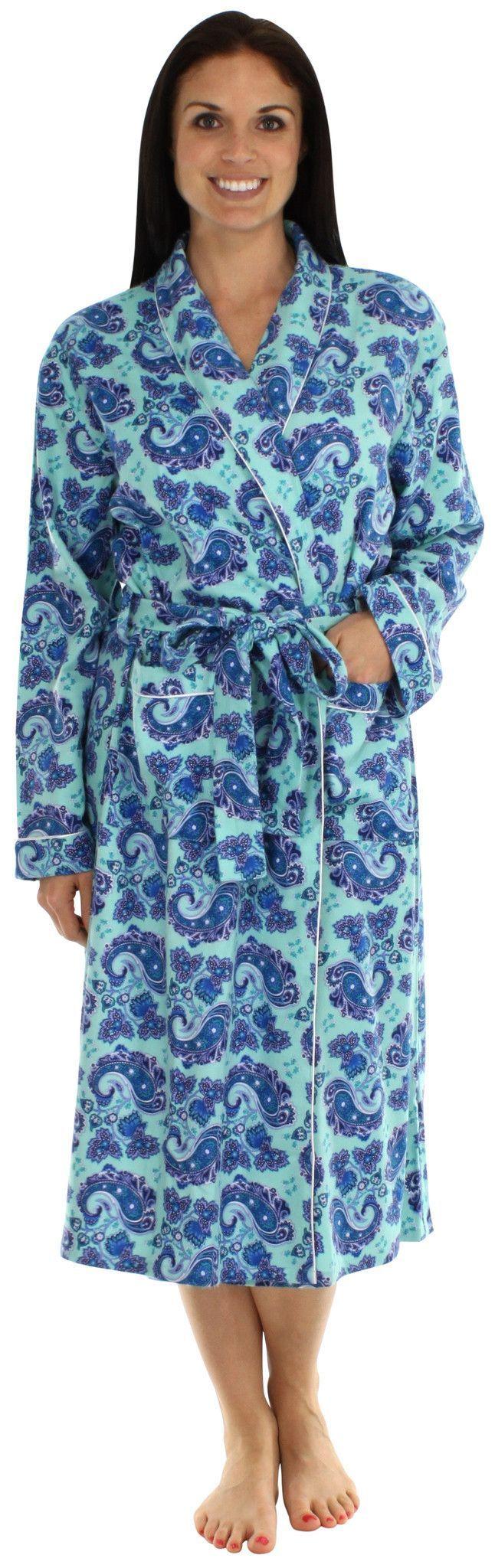 3c0b93aa49 bSoft Women s Longsleeve Bamboo Flannel Robe
