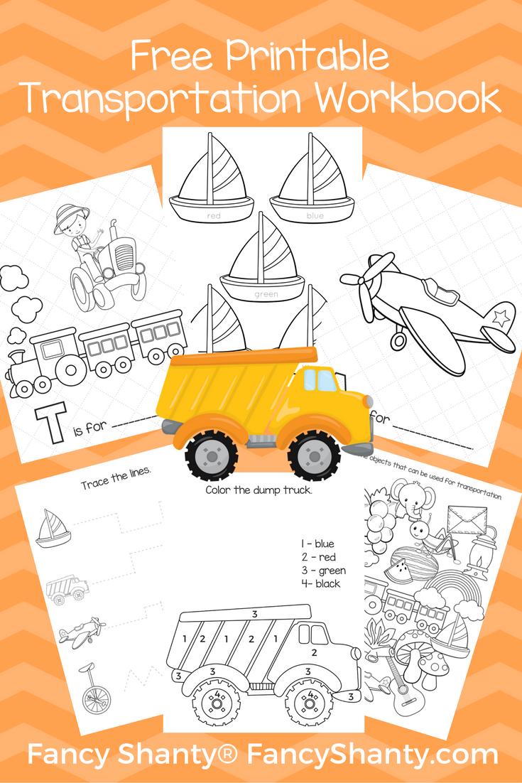 Free Big Preschool Workbook Download For Boys Preschool Workbooks Transportation Preschool Free Preschool [ 1102 x 735 Pixel ]