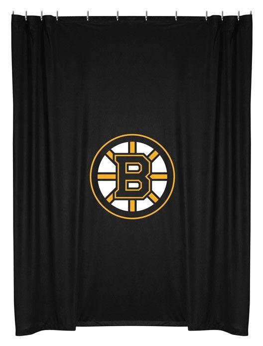 Boston Bruins NHL Bathroom Shower Curtain