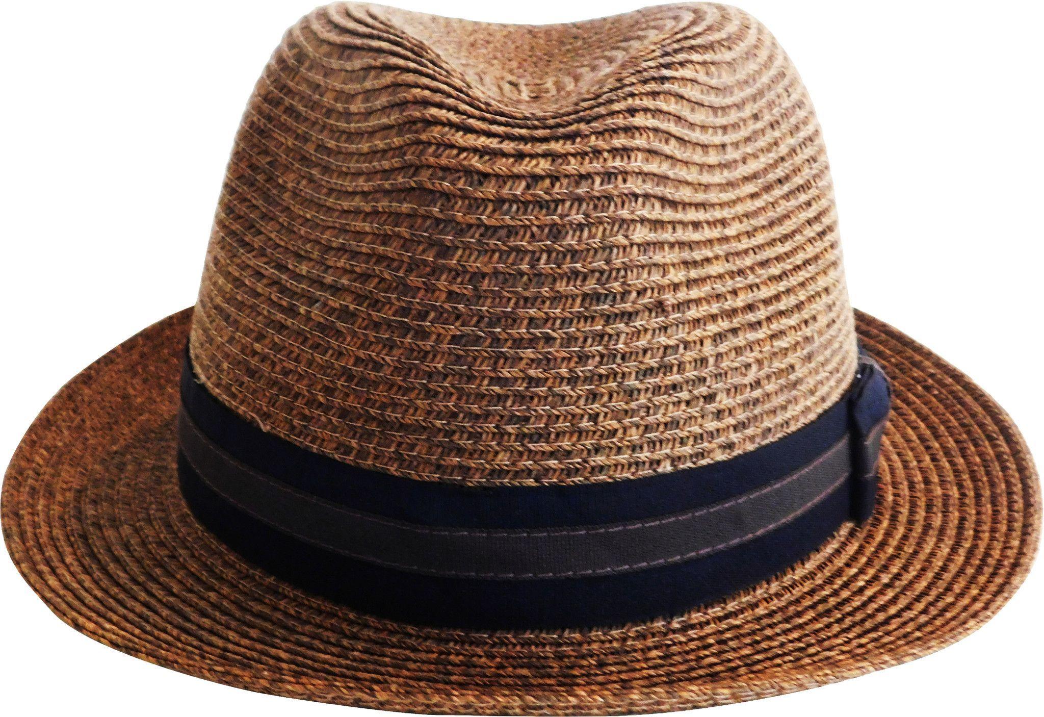 756ac8a594d Brooklyn Hat Co Bedford Straw Fedrora Sewn Braid Paper Poly Bend - Two Tone  Grosgrain Band 1 3 4