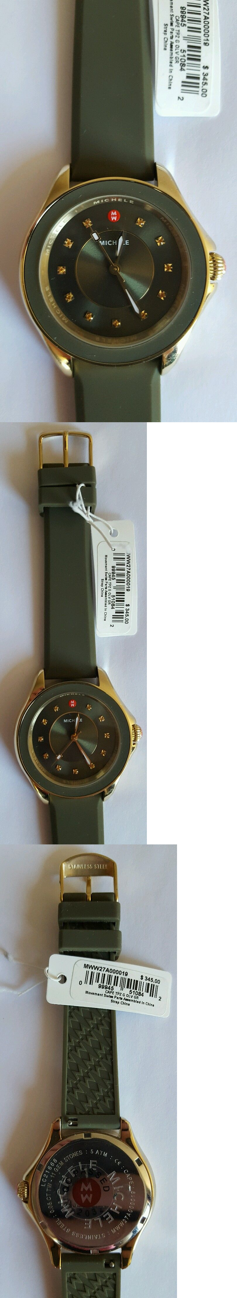 Other Jewelry and Watches 98863: Michele Cape Topaz-Studded Watch, 38Mm Price: $345.00 -> BUY IT NOW ONLY: $205 on eBay!