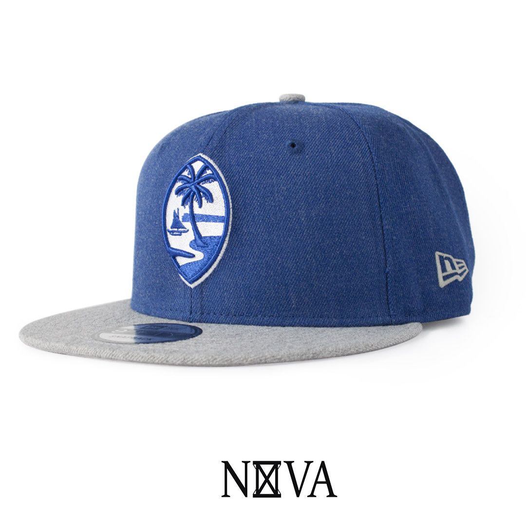 74873d66844 New Era 9Fifty Snapback Light Royal Grey Heather Grey Snapback 80% Acrylic  20% Wool