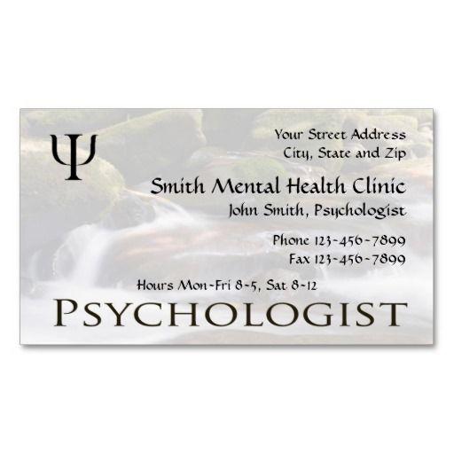 Psychologist Mental Health Business Card Mental Health Counselor