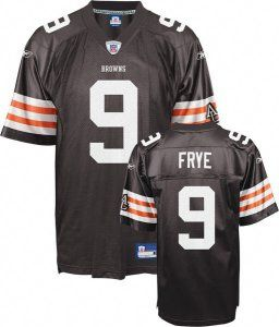 Charlie Frye Jersey, #9 Cleveland Browns Authentic NFL Jersey in  for cheap