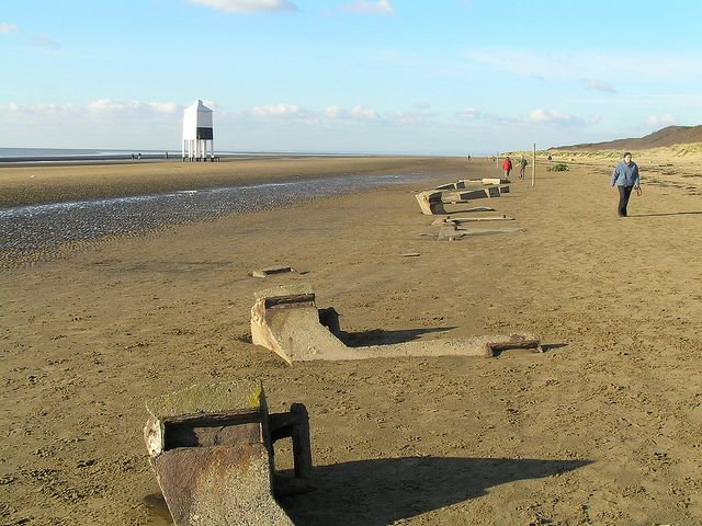The Lighthouse and the remains of the Mulberry Harbour that was used in the D-Day landings | Flickr - Photo Sharing!