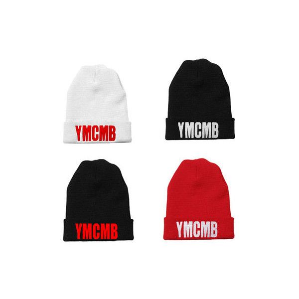 7413787b0e6 YMCMB HAT YOUNG MONEY CASH MONEY LIL WAYNE BOW WOW RAP BEANIE HAT... ❤  liked on Polyvore