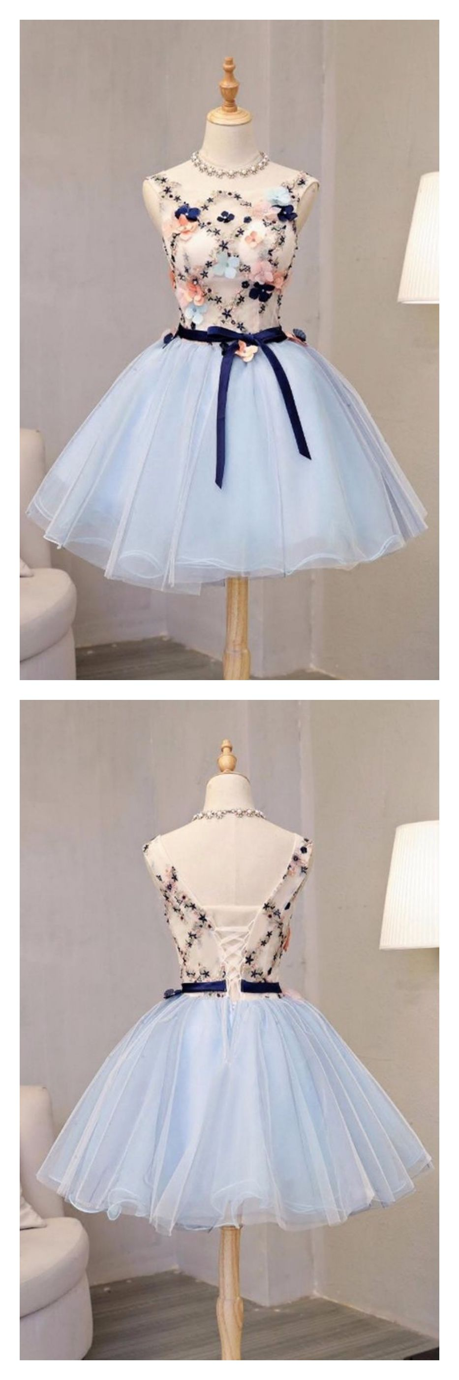 Vintage flower short princess homecoming dress party dressesed