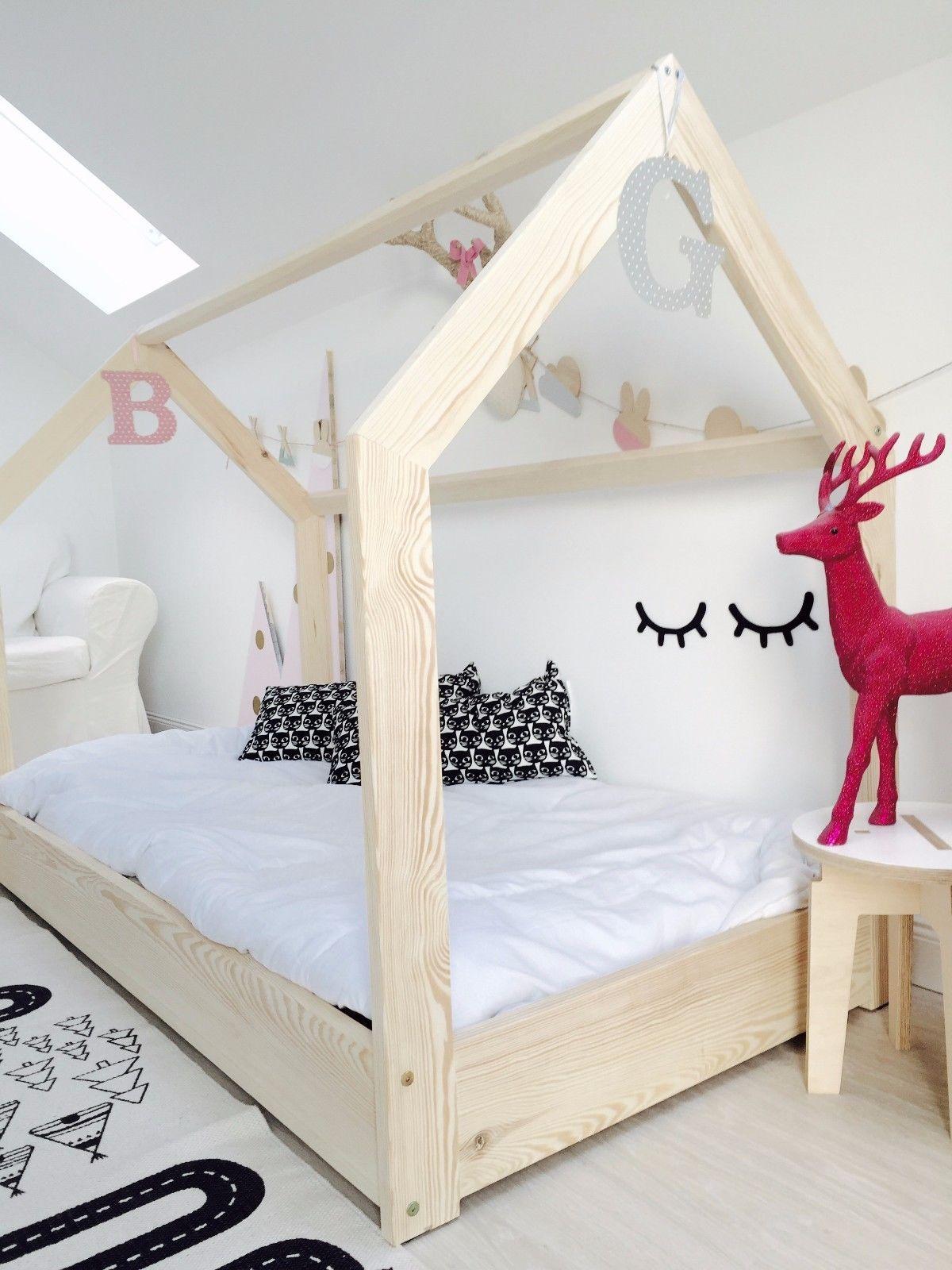 Hausbett Kinderhaus Farben Sicherheitbarieren House Bed Kinderbett