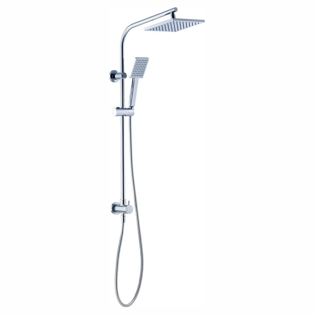 Glacier Bay Modern Wall Bar Shower Kit 1 Spray 8 In Square Rain